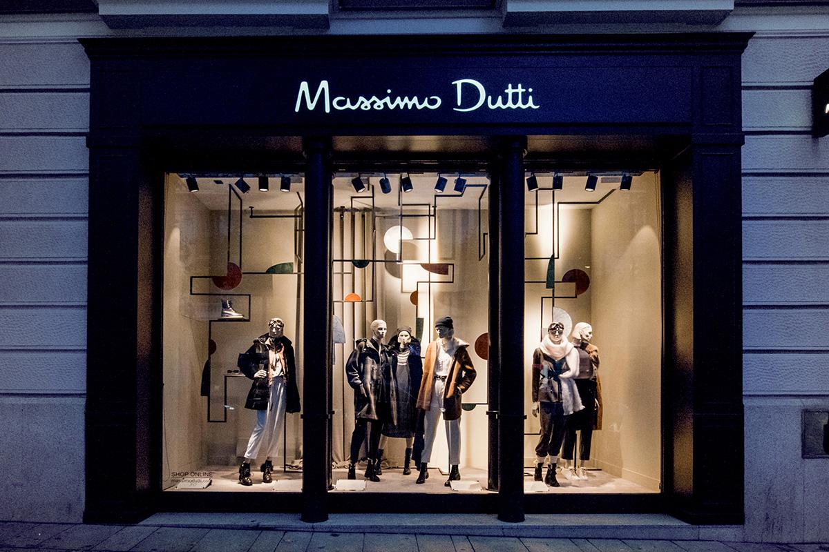 Iluminación escaparate Massimo Dutti